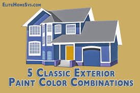 Classic Exterior Paint Color Combinations - Color schemes for house exterior