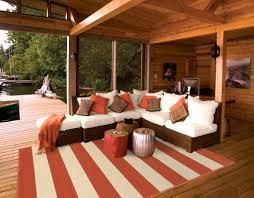 orange striped outdoor rug  woodwaves