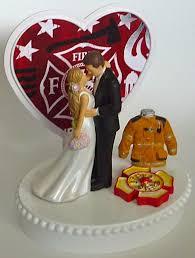 Wedding Cake Topper Maltese Cross Fire Department Firefighter