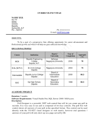 Sample Resume 4 For Fresh Engineering Graduates