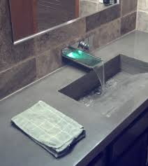 furniture grey bathroom countertops connected by rectangle sink and faucet wonderful look of glass