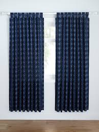 catherine lansfield stars stripes lined curtains tab top curtainslined curtainsblue