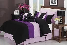 impressions 8 piece luxurious comforter full set florence purple