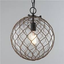 shades of light nautical rope pendant globe view full size
