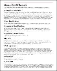 Carpentry Resume Samples Journeyman Carpenter Resume Sample Resume ...