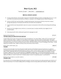 Sports Management Cover Letters Medical Science Liaison Resume Cover Letter Template