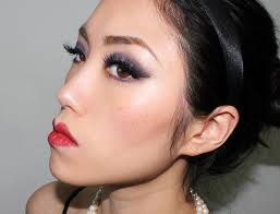20s flapper makeup face of the day