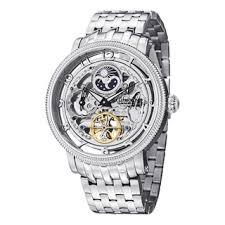 skeleton men s watches shop the best deals for 2017 stuhrling original men s symphony dt automatic skeleton stainless steel bracelet watch