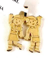 nwt 14k yellow solid gold boy waving charm pendant 1 92g retail 150 girl owuvdq4620 diamond