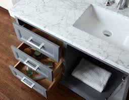 ariel scnan42swg nantucket 42 single sink bathroom vanity set with marble top tapered legolding detail in whale com