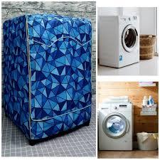 Áo trùm máy giặt vỏ bọc loại cửa trước lồng ngang size 7kg 8kg 9kg - vải  bao chùm chống bụi (mẫu tam giác xanh) giá cạnh tranh