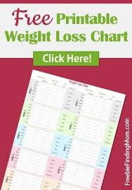 Free Weight Loss Charts To Print Free Printable Weight Loss Graph
