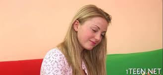Sweet Russian teen with big juicy chicks gets spoon fucked on.
