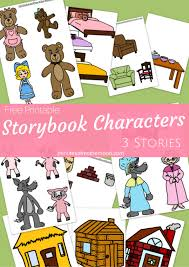 printable story book characters little red riding hood goldilocks and the