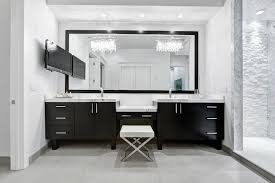 bathroom chandelier lighting ideas. view full size modern contemporary master bathroom design with twin crystal linear chandeliers chandelier lighting ideas