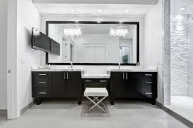 black double vanity
