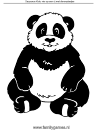 Kleurplaat Panda Sequence Kids Kleurplatennl