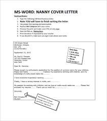 nanny cover letter pdf nanny cover letters