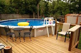 above ground pool decks. Outstanding Above Ground Pools With Deck Image Of Swimming Pool Decks Designs For Round Small Plans