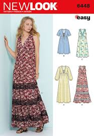 New Look Patterns Magnificent Simplicity New Look Sewing Pattern Easy VNeck Dresses 48 EBay