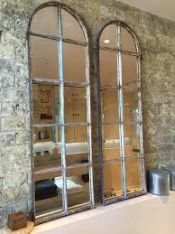 Arched Architectural Reclaimed Window Mirrors arched-window-mirrors  [PairA/10] :