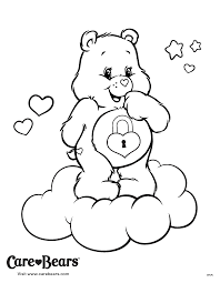 Secret Bear On A Cloud Coloring