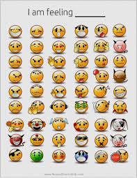 Emoji Feelings Chart Printable 76 Rare Emotion Chart Kid
