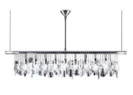 black linear chandelier home and furniture impressive linear crystal chandelier of by r at black 8