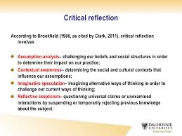 critical reflection essay definition critical reflective writing slideshare