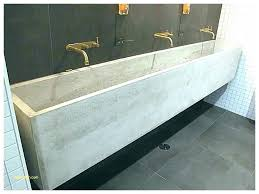 trough sink with two faucets trough sink bathroom trough sink double trough sink with wall faucets