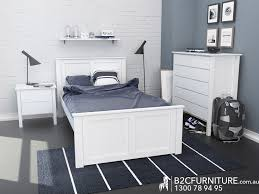Modern Bedroom Furniture Melbourne Dandenong Bedroom Suites King Single White B2c Furniture