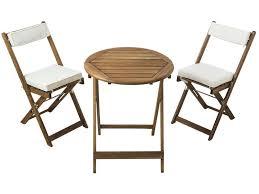 Ensemble table + 2 chaises pliantes + coussins GABBY - Vente de ...