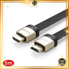 Cáp HDMI dẹt Ugreen 10263 dài 5m hỗ trợ 3D, 4K chính hãng tại Hà Nội