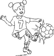 Small Picture Soccer Coloring Pages Girl Football Coloring Pages Girls