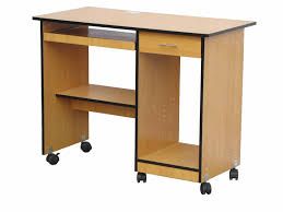 particle wood furniture. Light Brown Particle Board Movable Computer Table With Shelves And Drawers Also Black Wheels, Wonderful Wood Furniture I
