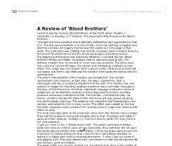 blood brothers essay help