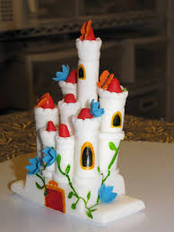 Fondant Castle For The Peter Pan Mini Golf Birthday Cake Flickr