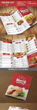 Restarunt Brochure Cool Food Menu Flyer Food Menu Print Templates And Menu