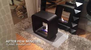 quadro black portable mini bio ethanol fireplace