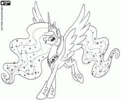 Kleurplaten My Little Pony Princess Celestia