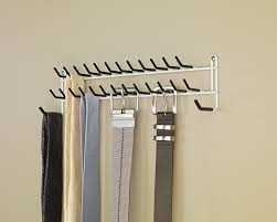Hanging Necklace Organizer Amazoncom Closetmaid 8051 Tie And Belt Rack White Home Kitchen