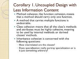 Design Axioms And Corollaries Ppt The Object Oriented Design Process And Design Axioms