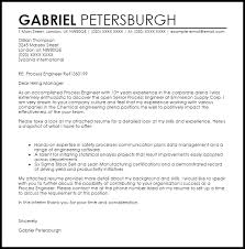 Process Engineer Cover Letter Sample Cover Letter