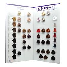 Hairjamm Colour Chart Luminart Ammonia Free Colour Chart