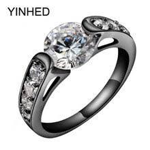 YINHED уникальное обручальное <b>кольцо</b> с черным <b>золотом</b> 2 ...