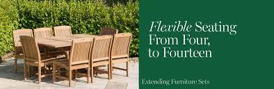 Extending garden table sets