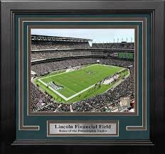 Being a multipurpose stadium, the philadelphia eagles played their first regular season game at veterans stadium on september 26, 1971 against the dallas cowboys. Philadelphia Eagles Lincoln Financial Field Aerial View 8 X 10 Framed Football Stadium Photo Dynasty Sports Framing
