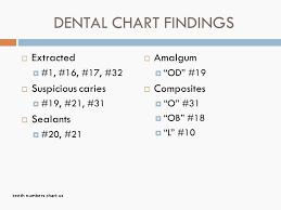 Dental Chart With Teeth Numbers Dental Chart Of Baby Teeth