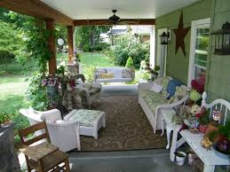 interesting picture if front porch design and decoration using white wicker front porch sofa including square
