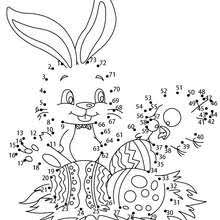 Easter Bunny And Eggs Dot To Dot Game Coloring Pages Hellokidscom